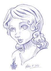 Pasha - Bust sketch