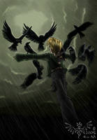 Scarecrow in the Rain by washipuppy