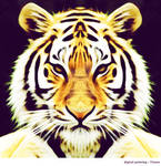 Tiger Digital Painting by Vianto