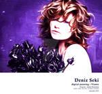 Deniz Seki Digital Painting by Vianto