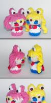 Sailor Moon and Chibi Moon Amigurumi