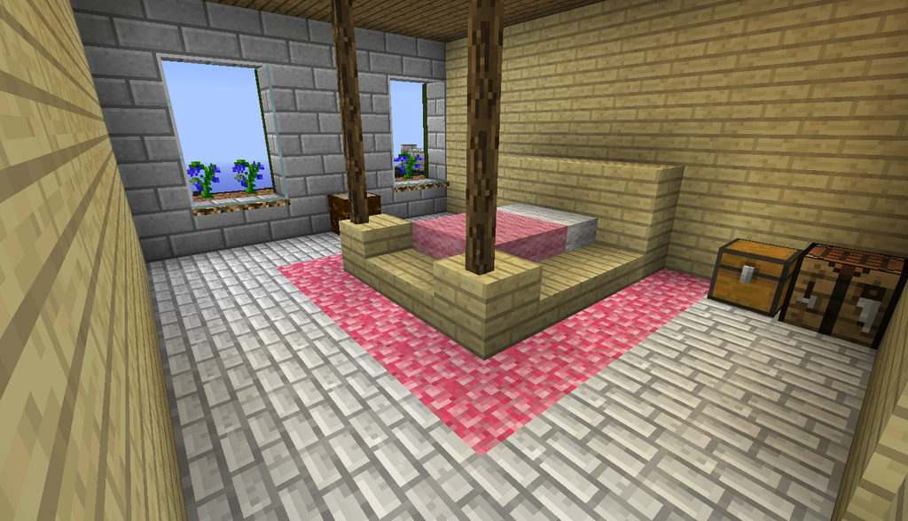 Minecraft House Bedroom By The Uncertain On DeviantArt
