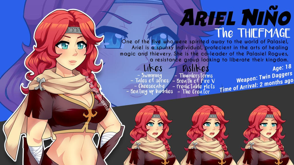 Palasiel Quest - Ariel Nino by Kaibuzetta