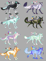 -OPEN- Canine Adoptable Batch 8 by wolfkittyadopts