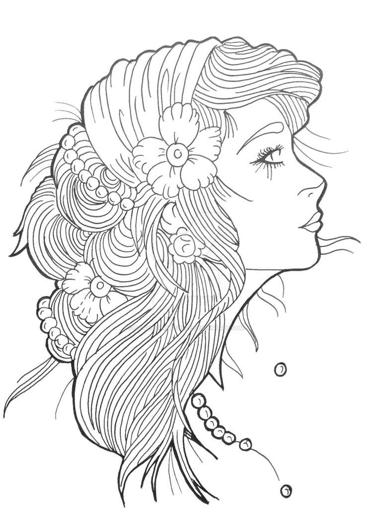gypsy coloring pages | Gypsy Girl by Nottherabbithole on DeviantArt