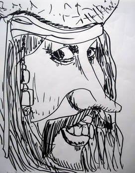 Jack Sparrow - Johnny Deep caricature
