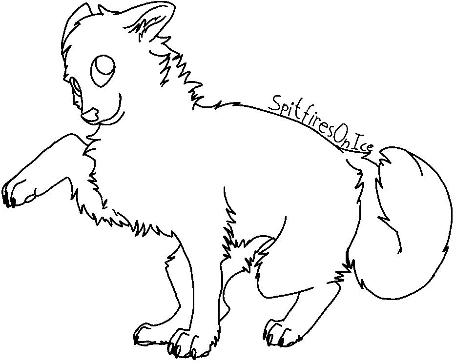 Line Art Dog : Free dog lineart ms paint by spitfiresonice on deviantart
