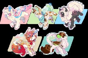 Creamy Dreamy Doggos (Closed) by LunarAdopts