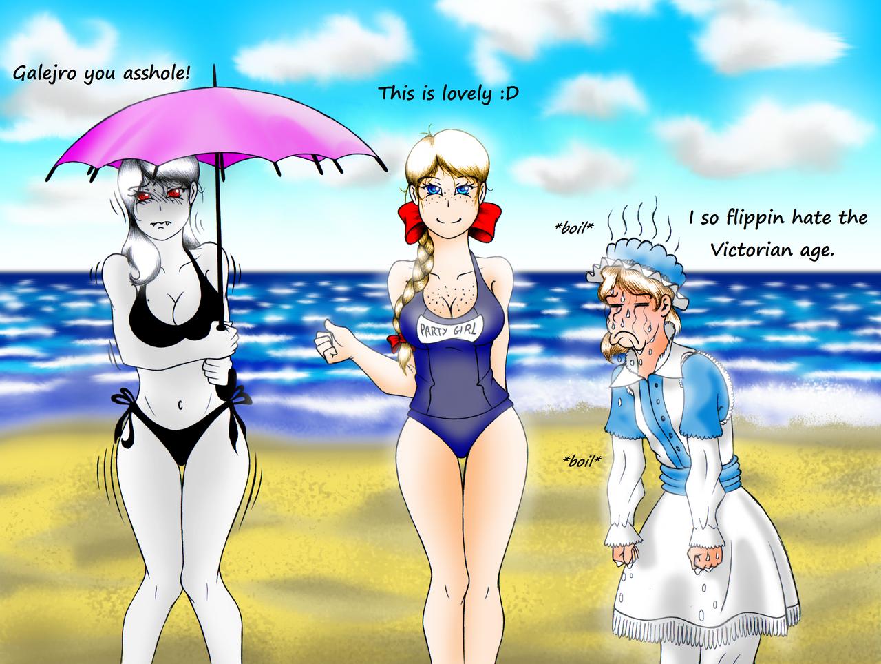 Summer Beach Shenanigans by Galejro