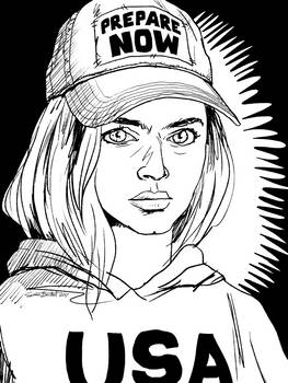 USA Sweatshirt Portrait