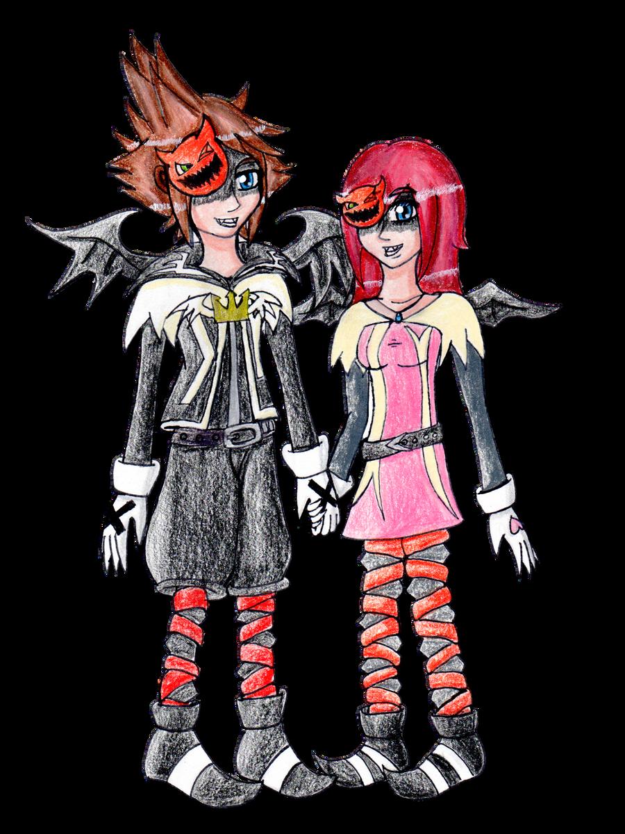 Halloween Town: Sora+Kairi by Lavender-Star on DeviantArt
