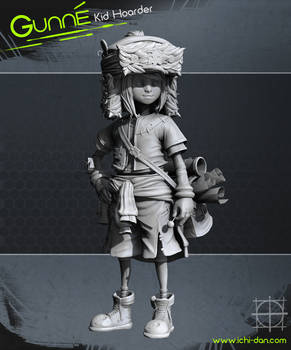 Gunne - Kid Hoarder High Poly Sculpt