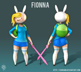 Fionna - Adventure Time WIP 4 - Quick Polypaint by Ichidann