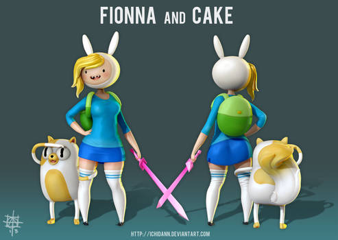 Fionna and Cake - Adventure Time WIP 5