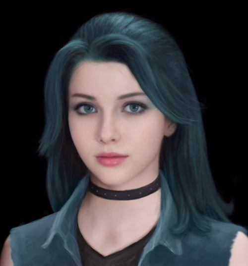 Stardew Valley Realistic Abigail (Teal Hair)