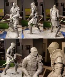 Elite Knight Dark Souls Sculpture by Garz2000