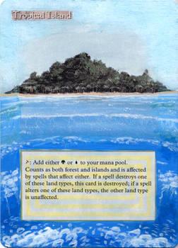 MtG: Altered Card Art 1:Tropical Island