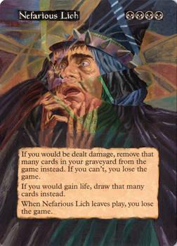 MtG: Altered Card Art :Nefarious Lich