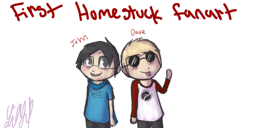 First Homestuck Fanart Dave And John By XYuriSanX
