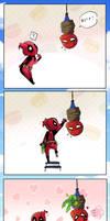 All tied up! by LittleBlueGhostyBoo