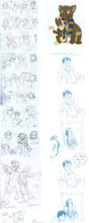 DH SPOILERS - Huge Sketch Dump by Not-Quite-Normal