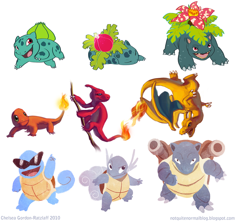 Pokemonathon Starters by Not-Quite-Normal