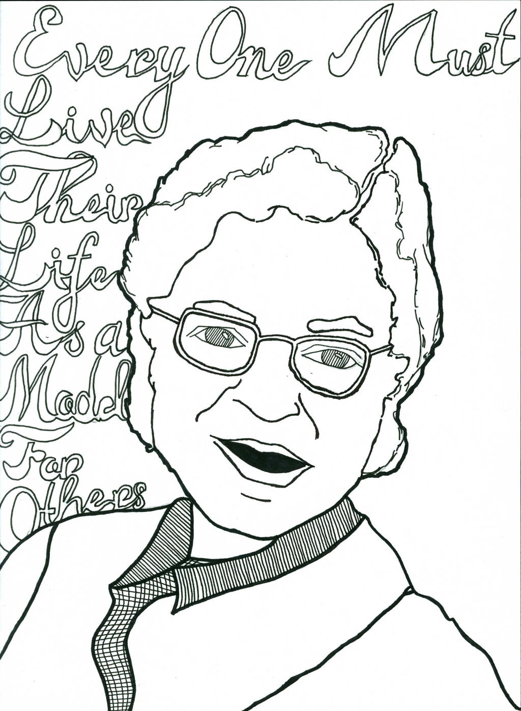 Rosa Parks Coloring Page Peoplegif