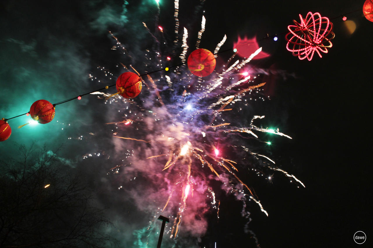 Chinese new year fireworks by dawebestwick