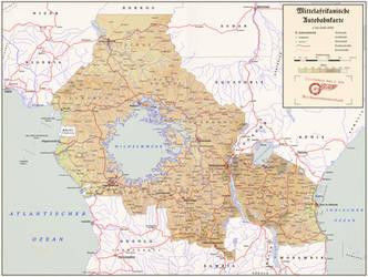 Mittelafrikanische Autobahnkarte by ReagentAH