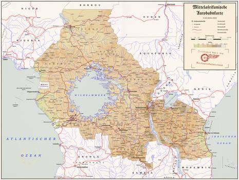 Mittelafrikanische Autobahnkarte