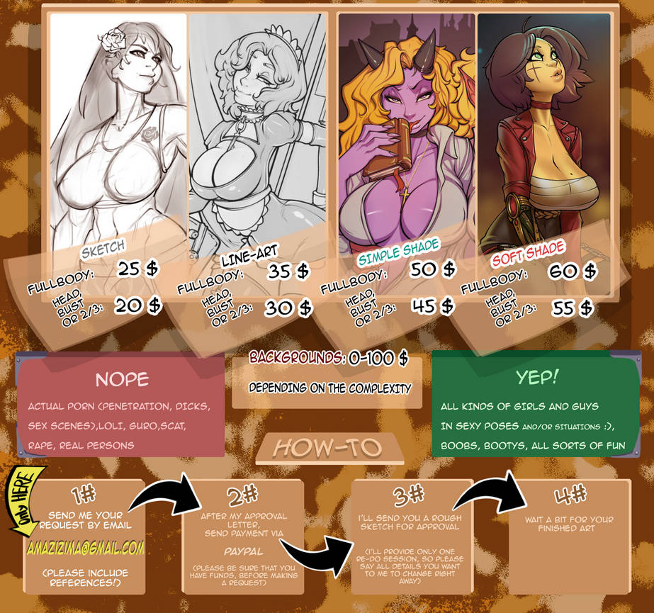 New info for my COMMISSIONS