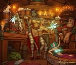 The Wayworn Unicorn tavern (SFW version)