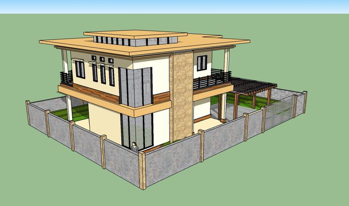 House in sketchup by karlowee on deviantart for Modern house sketchup