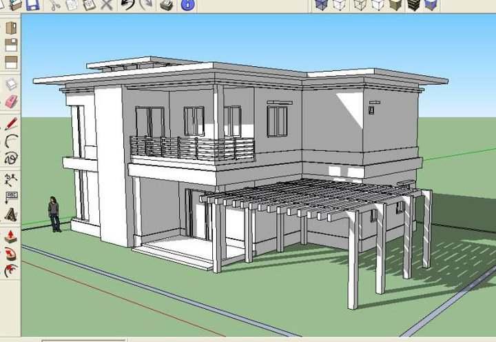 house in sketchup wip 2 by karlowee on deviantart. Black Bedroom Furniture Sets. Home Design Ideas