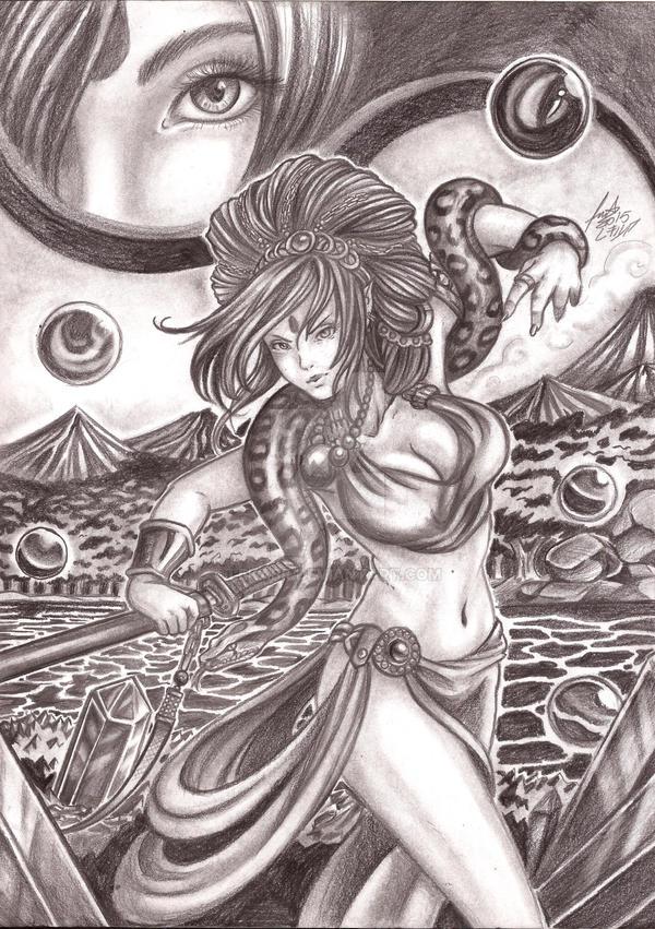 oc__feiticeira_e_a_serpente_by_lekabr-d8