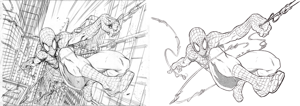 Inking Practice - 003 - Spider-Man by Bostonology