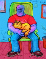 GARFIELD AND THANOS.