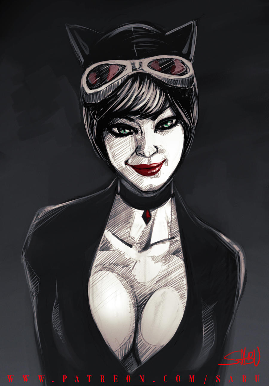 45 mins sketches - Catwoman