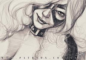 45 mins sketches - Black Cat by SabuDN