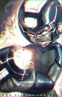 45 mins sketches - Megaman by SabuDN