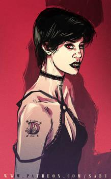 45 mins sketches - Vampire Girl