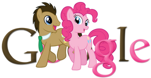 Doctor Whooves and Pinkie Pie Google Logo