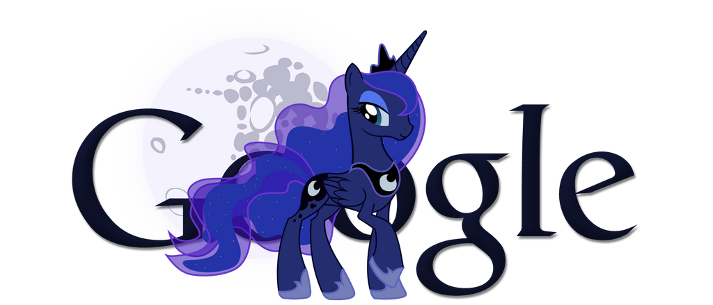 Princess Luna Google Logo Transparent Background By Ssumppg On