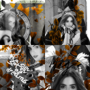 Lily Collins 4 icons by Alexxa90