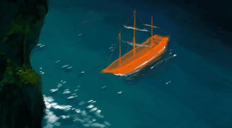 Lone ship by MehulSahai