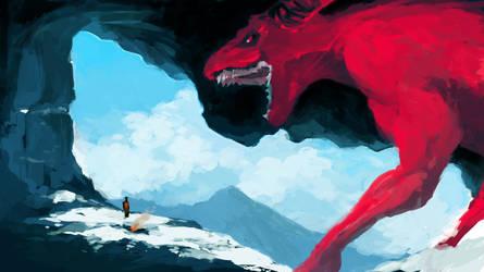 Snow dragon by MehulSahai