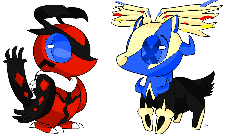 yveltal and xerneas chibi by chatotlover448 on deviantart