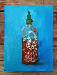 Half-empty Sriracha by SoothSheeper