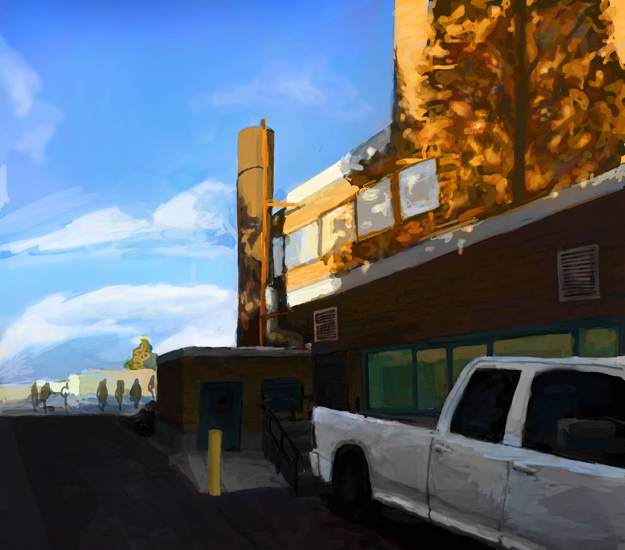 Back Alley Color Study 2 by SoothSheeper