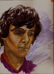 Sherlock in watercolour by naturegirlrocks